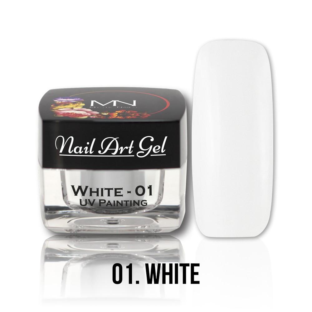 UV Painting Nail Art gel 01 - Biely