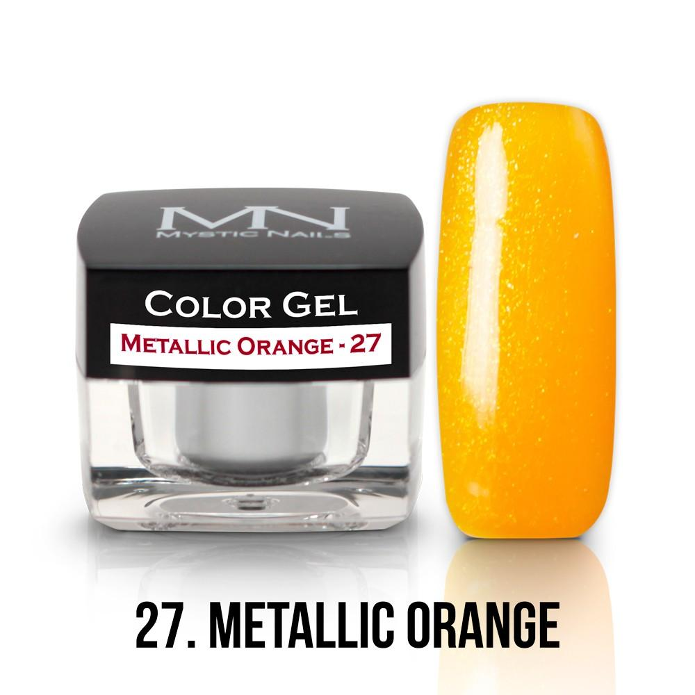 Farebný UV gél - 27 -Metalic Orange - 4g