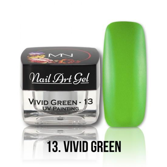 UV Painting Nail Art gel 13 - Vivid Green