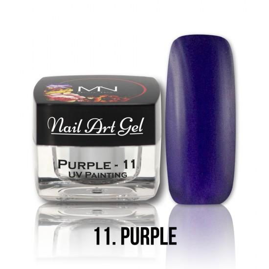 UV Painting Nail Art gel 11 - Purpurová