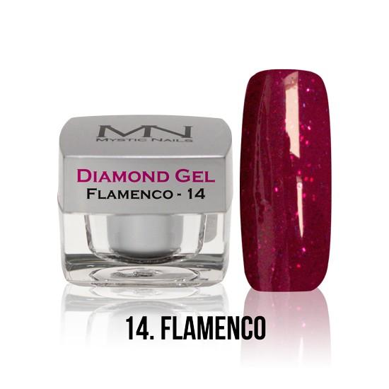 Diamond Gel - no. 14. - Flamenco -4g