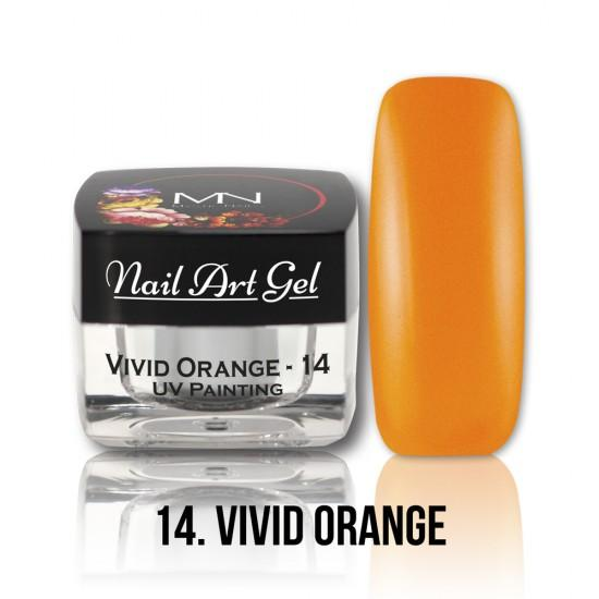 UV Painting Nail Art gel 14 - Vivid Orange